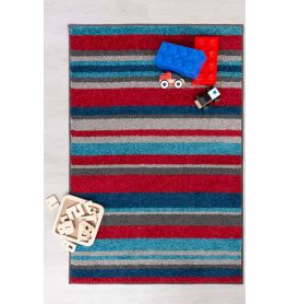 Childrens Stripes Multi Coloured Rug