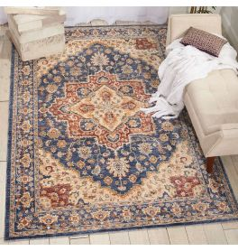 Traditional style Lagos Rug LAG01 Blue