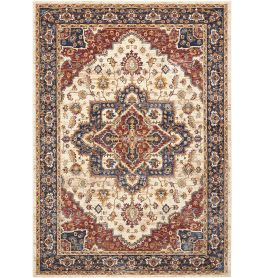 Traditional style Lagos Rug LAG01 Cream