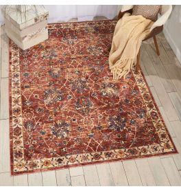 Traditional style Lagos Rug LAG02 Brick