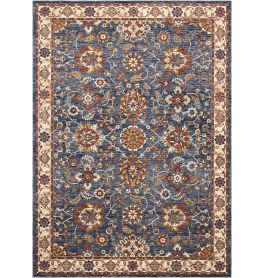 Traditional style Lagos Rug LAG04 Blue