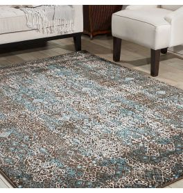 Tribal Rug Karma Blue KRM04