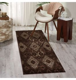 Tribal Rug Karma Chocolate KRM02