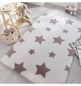 Childrens Twinkle Stars Candy Sherbet White Rug
