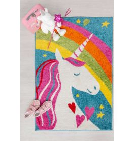 Childrens Unicorn Rainbow Rug