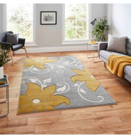 Verona OC15 Grey Yellow Rug