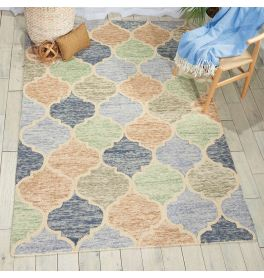 Vibrant Wool rug Light Multi VIB07