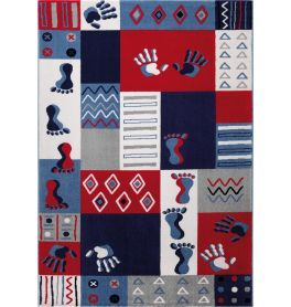 WECON Home Hands & Feet Multicolour Rug