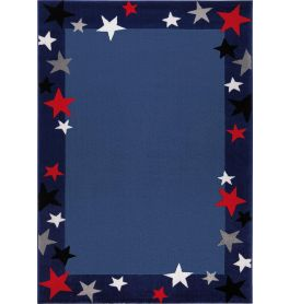 WECON Home Just Stars Blue Rug