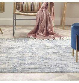 Yellow Beige Blue Rug Ella 6942E Abstract