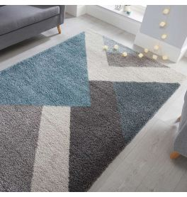 Zula Geometric Multi Blue Rug