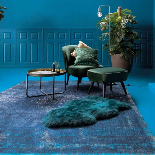Medallion Rug 8254 Blue night
