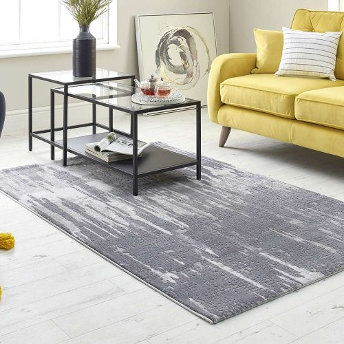 Abstract Grey Rug High Rise 6469B