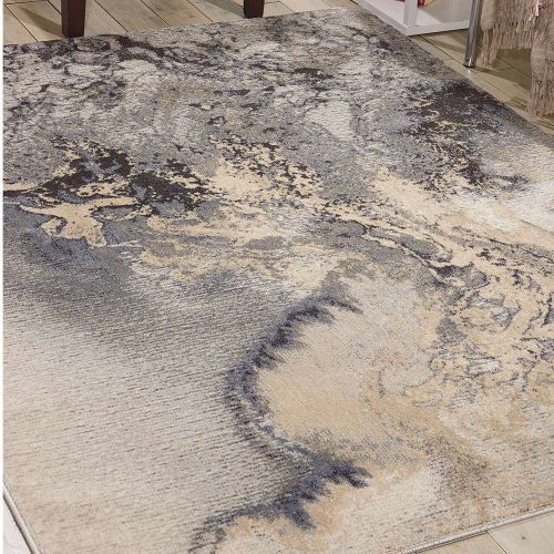 Abstract Maxell Rug MAE08 Grey