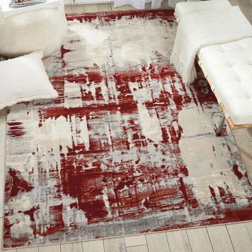 Abstract Maxell Rug MAE14 Red