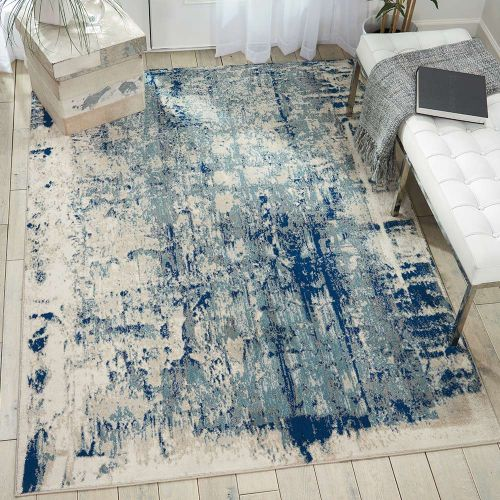 Abstract Maxell Rug MAE16 Ivory Blue
