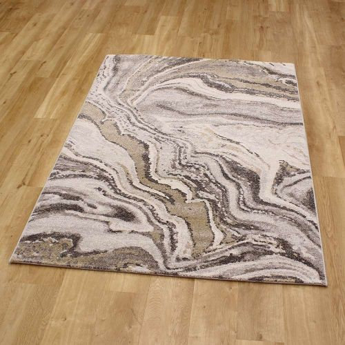 Abstract Rug Liberty Brown Ochre 40 6191