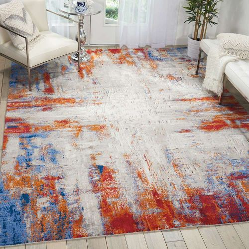 Abstract Twilight Rug Ivory Multi TWI26