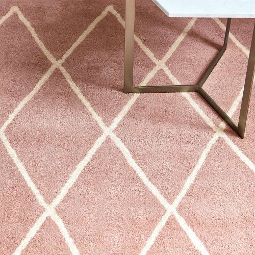Albany Rug Diamond Pink Wool