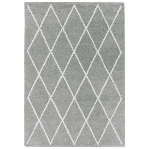 Albany Rug Diamond Silver Wool