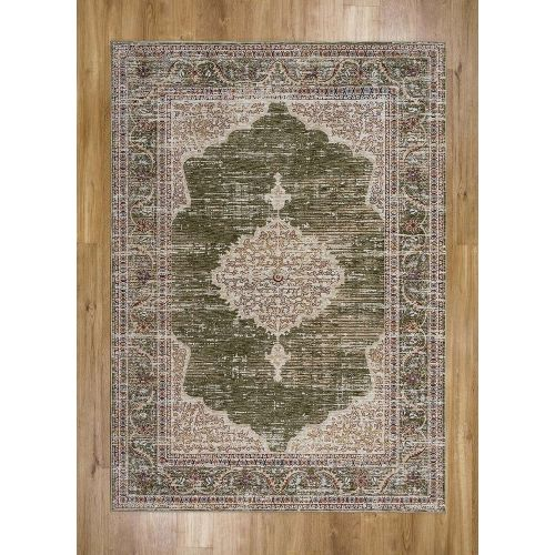 Alhambra Rug Antique Ivory Green 6594B