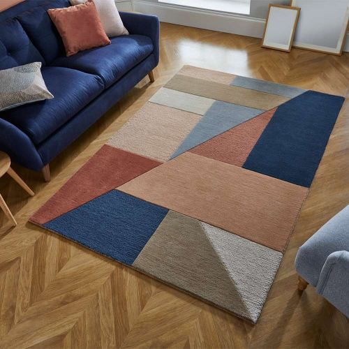 Geometric Alwyn Multi Coloured Rug