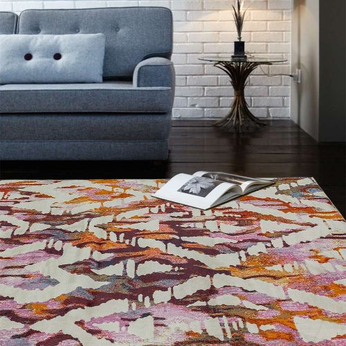 Amelie AM01 Diamond  Abstract Multi Coloured Rug