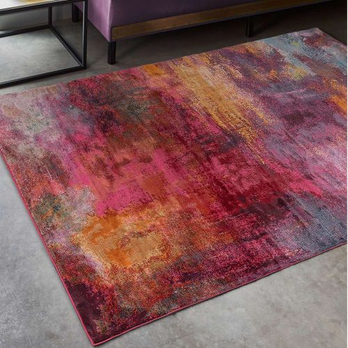 Amelie AM04 Splash Abstract Multi Coloured Rug