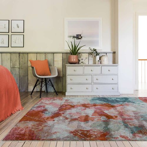 Amelie AM06 Sundown Abstract Multi Coloured Rug