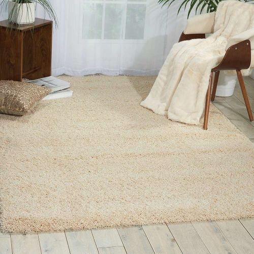 Amore Cream Shaggy Rug