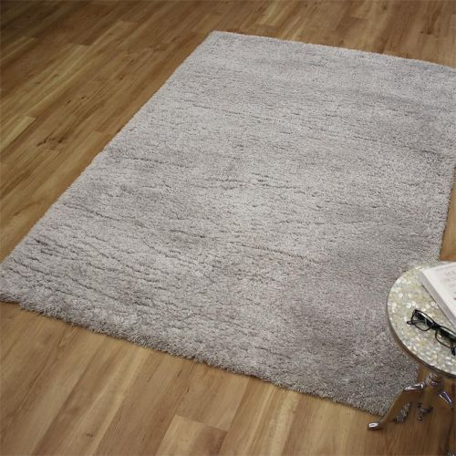 Angora Shaggy Rug Light Grey