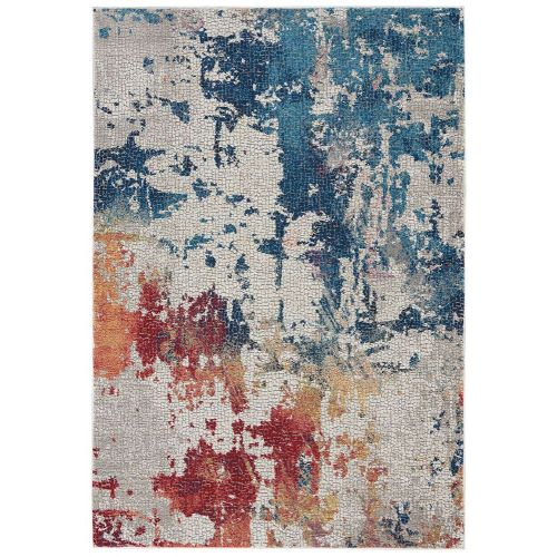 Abstract Ankara Global ANR10 Blue Multi Rug