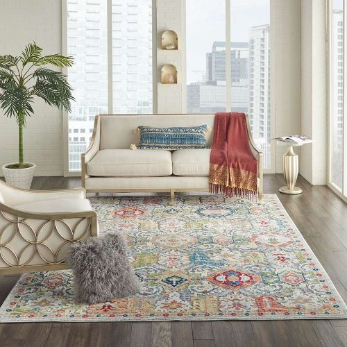 Traditional Ankara Global ANR12 Grey Multi Rug