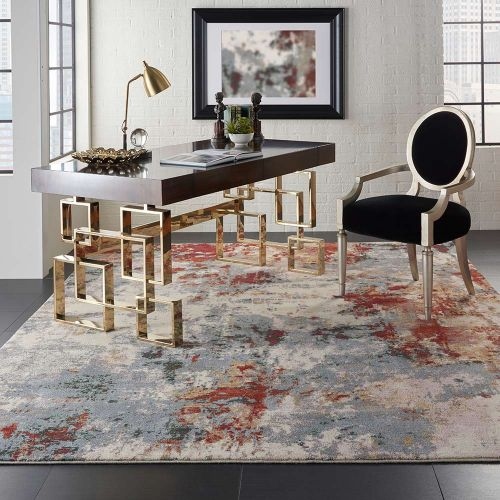 Abstract Artworks ATW01 Slate Multi Rug