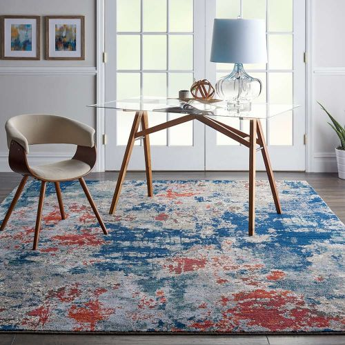 Abstract Artworks ATW01 Navy Brick Rug