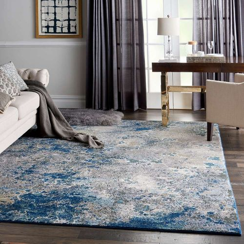 Abstract Artworks ATW02 Blue Grey Rug