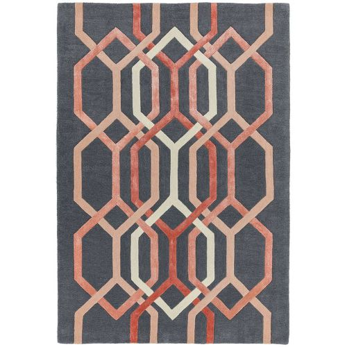 Matrix 66 Hexagon Charcoal Rug