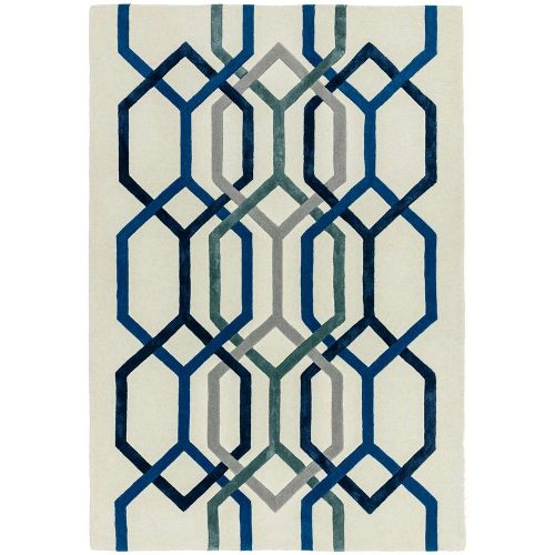 Matrix 65 Hexagon White Rug