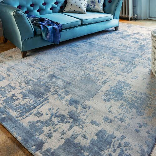 Astral Rug AS04 Blue 3D Abstract Style
