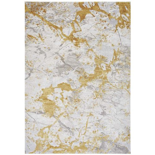 On Sale Astral Rug AS09 Ochre 3D Abstract Style 120x180cm size