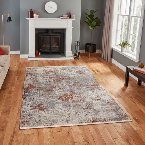 Athena 18597 Abstract Grey Terracotta Rug