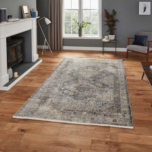 Athena 18739 Traditional Grey Rug