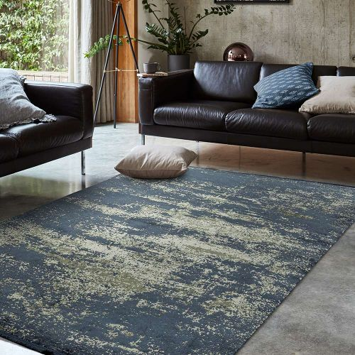 Athera AT02 Sapphire Abstract Rustic Rug