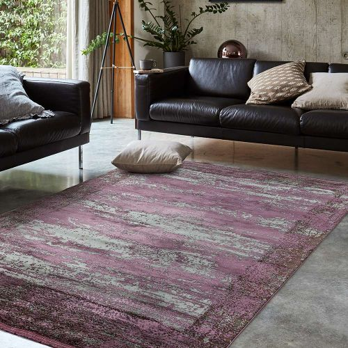Athera  AT04 Bordeaux Border Rustic Rug