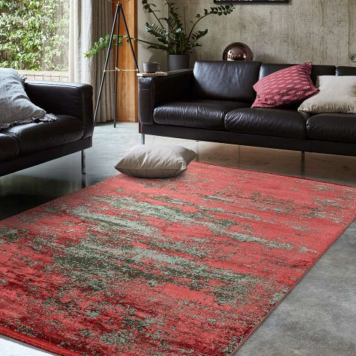 Athera  AT06 Ruby Abstract Rustic Rug