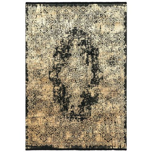 Athera  AT09 Ebony Medallion Rustic Rug