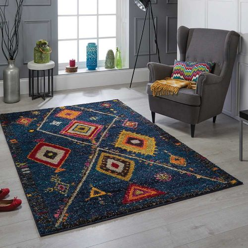 Atlas 80 B Blue Tribal Rug