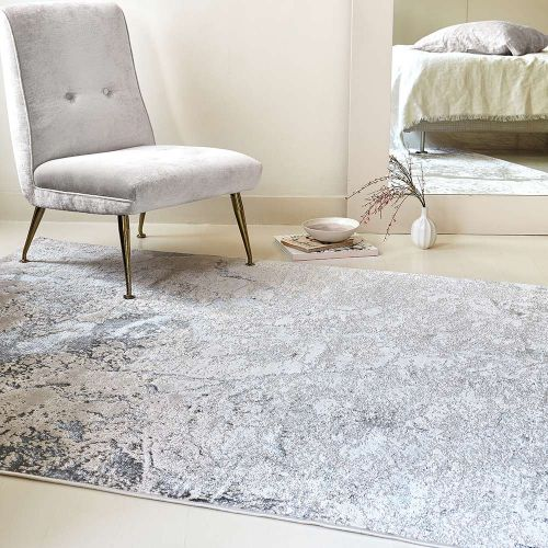 Aurora Rug AU03 Solar Silky Abstract