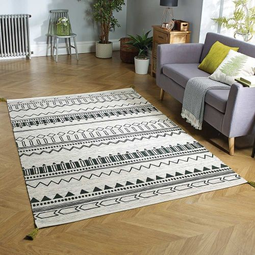Beni Green Printed Rug