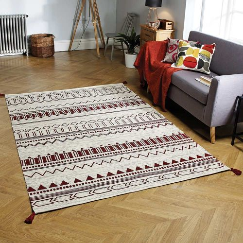 Beni Red Printed Rug
